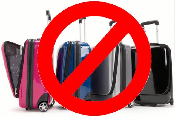 non portare in valigia
