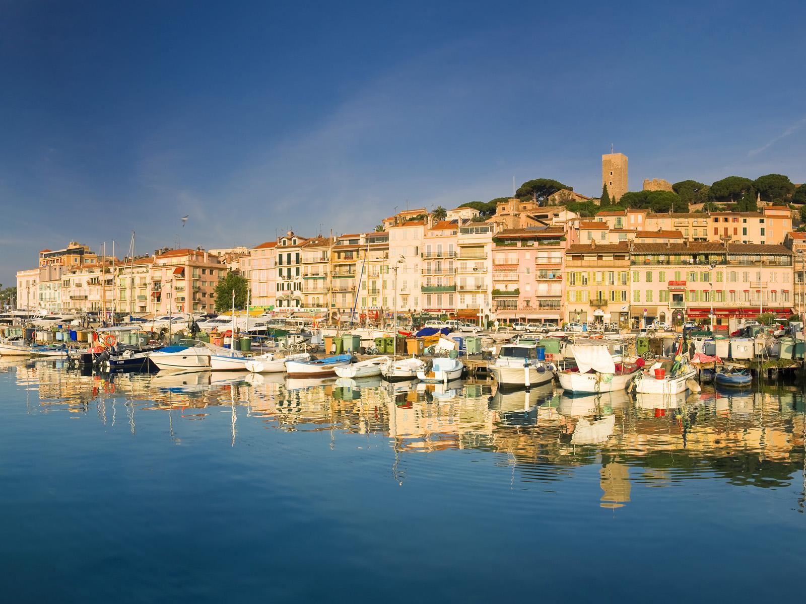 Vieux Port and old quarter of Le Suquet, Cannes