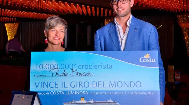 Savona festeggia il decimilionesimo crocerista con un itinerario Costa molto speciale