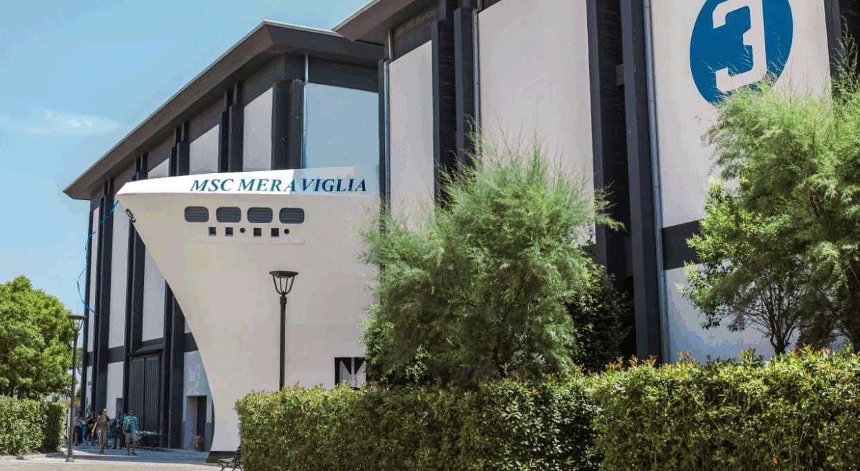 Msc Meraviglia a Cinecittà. La crociera in un parco divertimenti
